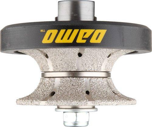 DAMO V30 1-1/4 inch Full Bullnose Diamond Hand Profiler Router Bit Profile Wheel with 5/8-11 Thread for Granite Concrete Marble Countertop Edge