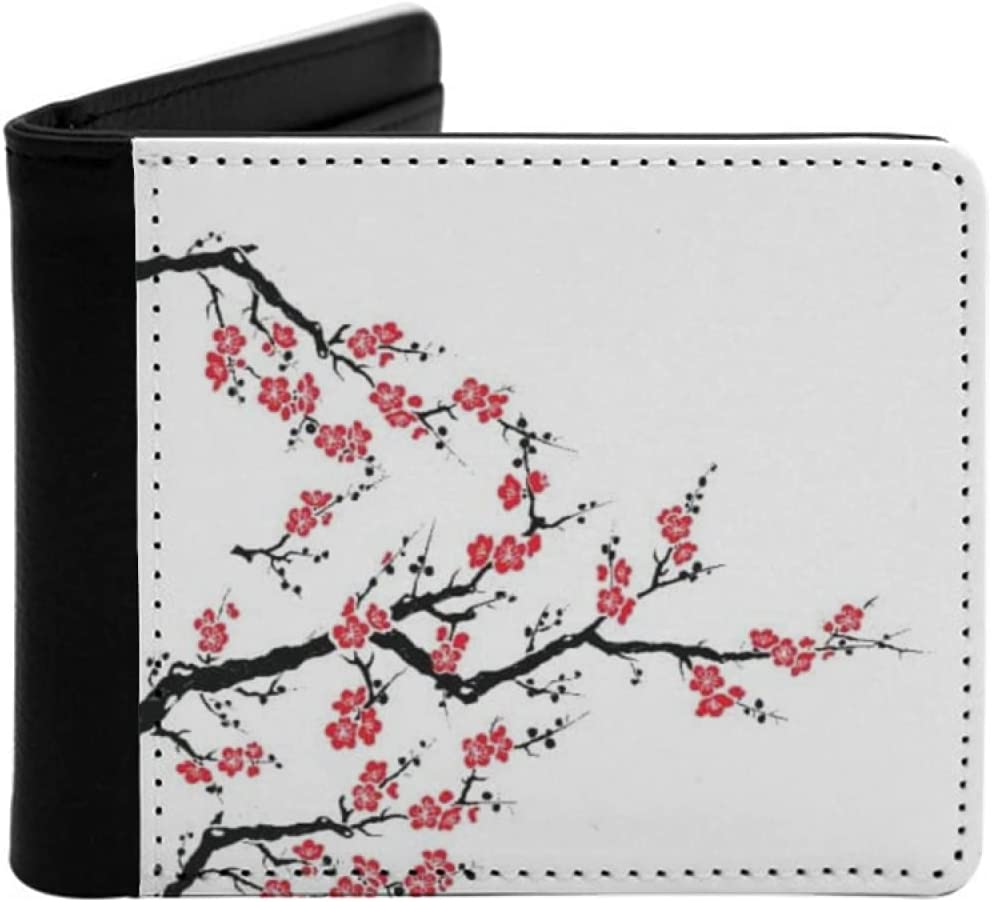 Mens Minneapolis Mall Womens Slim Wallet Simplistic Asian Cherry Bot Blossom Factory outlet Tree