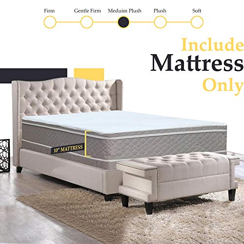 Greaton, 10-inch Eurotop pillowtop Innerspring Fully Assembled Mattress, Good for The Back Twin
