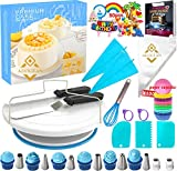 Cake Decorating Tools Kit 211Pc,Baking Utensils Set and Bakery Supplies,Baking Accessories,Baking Set for Adults,Baking Stuff,Cake Spinner Turntable,Baking Essentials For Beginners,Kids 9-12 (211PC)