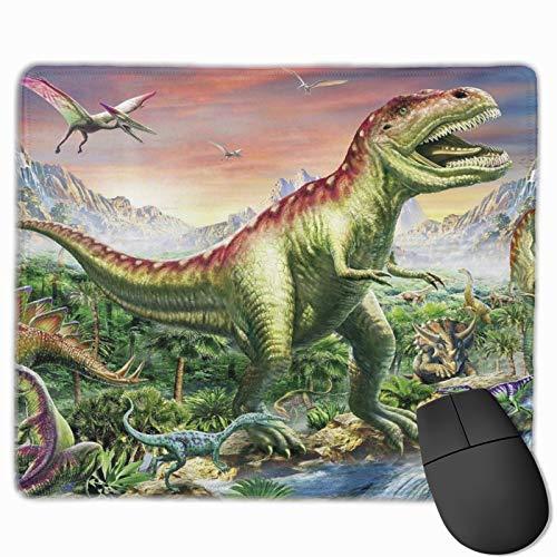 DOWNN Alfombrilla de ratón rectangular de goma antideslizante 3D con estampado de dinosaurios T-Rex para juegos de mesa para mujeres y hombres, portátil de 9.8 x 11.8 pulgadas