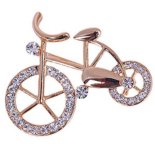 kliy Spilla Spille per Biciclette in Lega di Smalto con Strass per Donne E UominiRattan Bike Spilla per Banchetti per Feste Regali di Capodanno