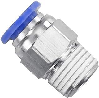 QWORK 5 Pcs Pneumatic Push to Connect Tube Fitting Bulkhead Union Straight 1//4 x 1//4 Tube OD