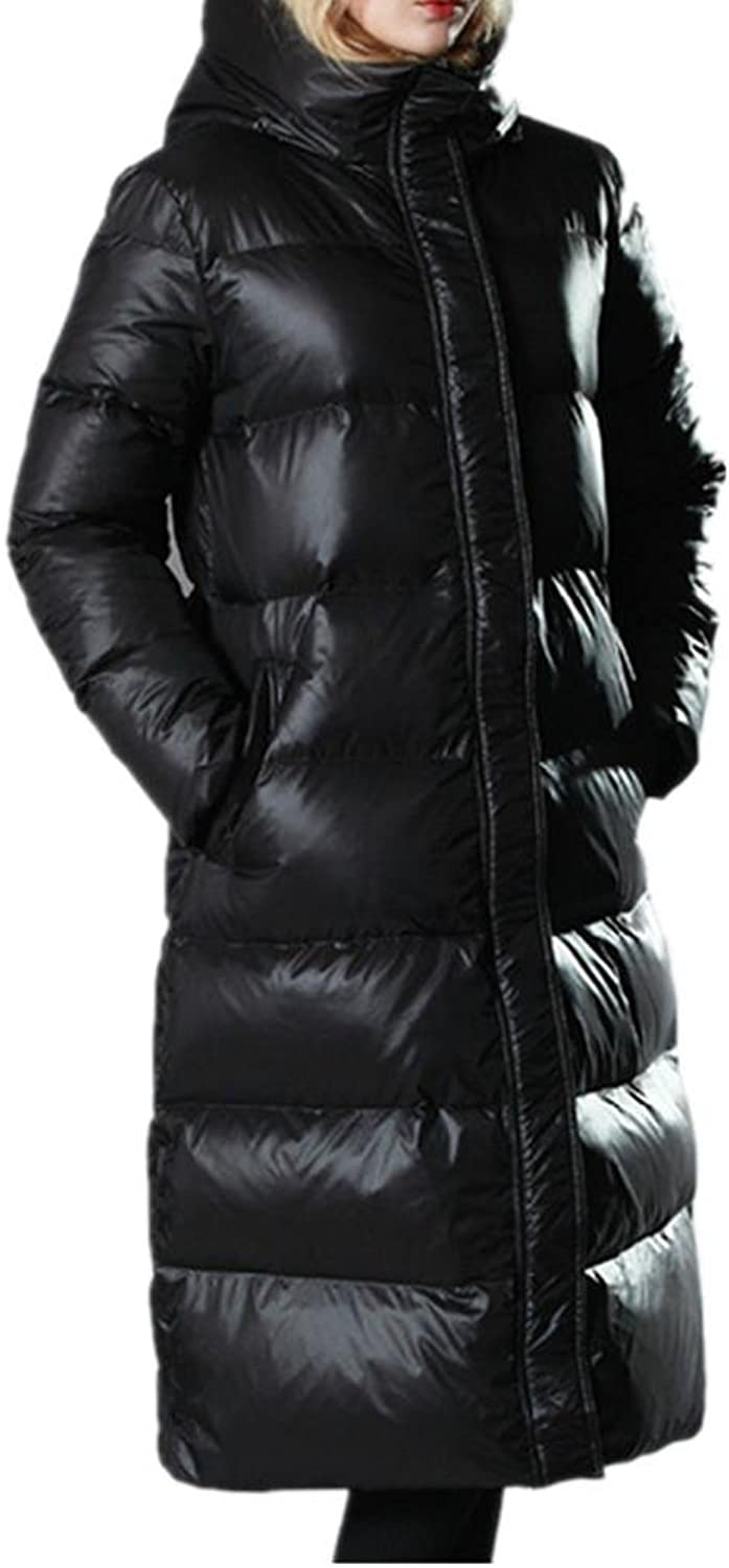 ZZHH down jacket Ladies ' slim long white duck down down jacket