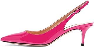 elashe - Scarpe da Donna - Scarpe col Tacco con Cinturino a T Donna - 6.5CM
