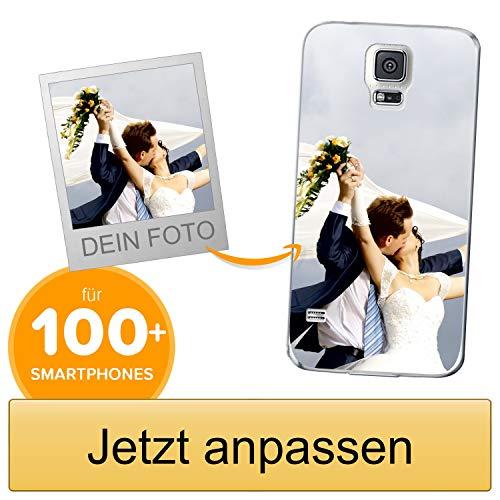 Coverpersonalizzate.it Handyhülle für Samsung Galaxy S5 / Galaxy S5 Neo mit Foto-, Bildern- oder Text selbst gestalten- Die Handyhülle ist aus weichem transparentem TPU-Silikon-Gel Material
