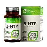5-HTP CAPSULAS - 200 mg | APOYO NATURAL DEL MEJOR ÁNIMO Y DEL SUEÑO | 3 MESES DE SUMINISTRO | 180 Capsulas Vegetarianas | Hecho en Instalaciones con Licencia ISO en el Reino Unido