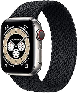 Braided Solo Loop Band Size 42/44 mm Medium - Wrist Size 140-190 mm Stretchable Woven Fabric Elastic Strap For Apple Watch...