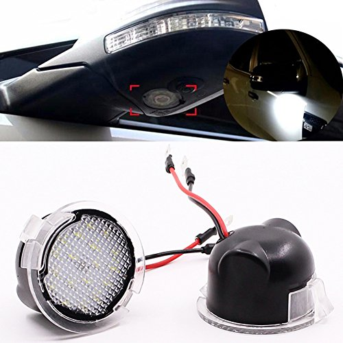 LED Under Side View Mirror Puddle Lights Assembly Compatible with Ford F-150...