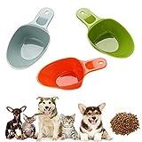 Gomech Cuchara de plástico para comida de mascotas, para vasos de 1/2 taza y 1/4 taza, pala de alimentación de mascota, pala de comida para gatos, cuchara para gatos y mascotas