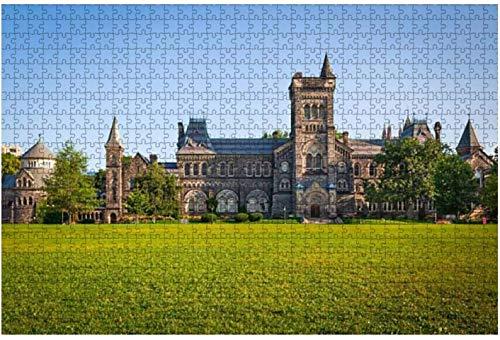 Universidad de Toronto Rompecabezas de piezas grandes para adultos, niños, entretenimiento creativo, rompecabezas de madera, decoración del hogar, 1000 piezas, 75 * 50 cm