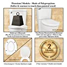 Toilet Seat Round BATH ROYALE BR620-00 White Premium Round Toilet Seat Slow Close, Replacement Toilet Seat Fits All Toilet Brands including Kohler, Toto and American Standard #3