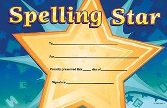 Spelling Star Award Certific (Pat-on-the-Back Awards)