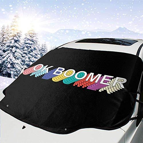 JONINOT Ok Boomer All Weather Universal Winter Parabrisas de Coche Cubierta de Nieve Eliminación de Hielo Parasol