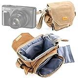 DURAGADGET Bolso De Piel Negra/Estuche para Nikon Coolpix A900 | Panasonic Lumix DMC-ZS100 (Lumix DMC-TZ100) | con Correa De Hombro Ajustable