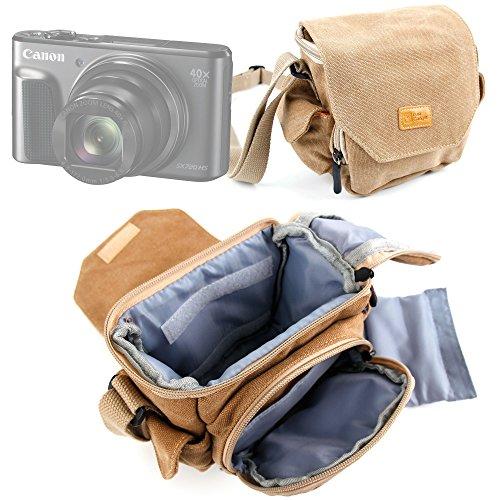 DURAGADGET Etui de Transport pour Canon PowerShot G7 X Mark II et SX720 HS, Sony ILCE-5000L / 5000YB et Cyber-Shot DSC-HX90, Fujifilm X70 et X-E2S appareils Photo compacts - en Toile de Coton Beige