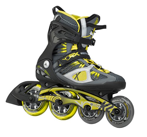 K2 Skates Herren VO2 100 X PRO M Inline Skates, Grau/Gelb, 42 EU