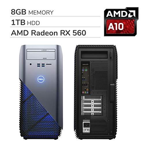 Dell i5675-A200BLU-PUS Inspiron 5675 AMD Desktop, AMD A10-9700 Processor, 8GB, 1TB, AMD Radeon RX 560 Graphics, Recon Blue