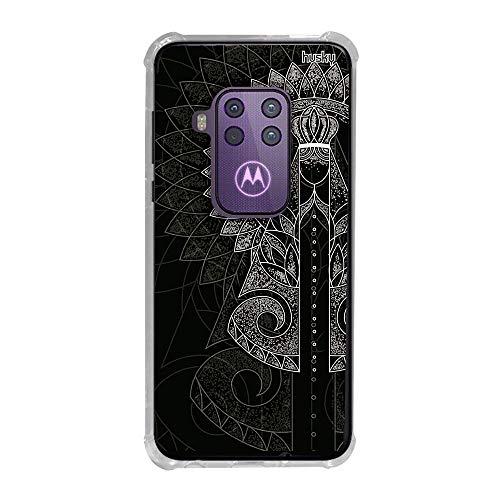 Capa Anti-Impacto Personalizada para Motorola One Zoom - Nossa Senhora Aparecida Pontilhismo - Husky