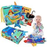BeebeeRun Livres en Tissu pour bébés 6 Pièces,d'activité de Livre d'animal Livres de Queue,Jouets pour Nouveau-nés Educatif Cadeau pour Enfants Bébé Bambin 0+ Mois