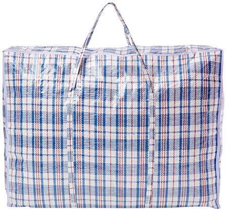 Q4U Wäschesäcke mit Reißverschluss, wiederverwendbar, groß, stark, Jumbo, 100 x 70 x 30 cm, wiederverwendbar, Wäschesack, Einkaufstasche, Strand-Beutel (5 Beutel)