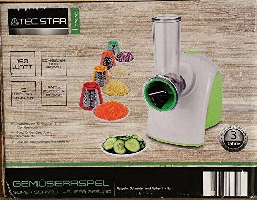 Tec Star Gemüseraspel / 150 watt / 5 Wechselklingen
