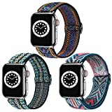 Dsytom 3 Pack Elastic Band Compatible with Apple Watch Bands 38mm 41mm...