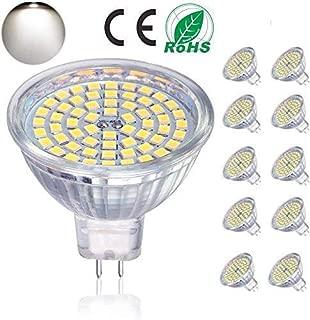 Bombillas LED GU5.3, bombillas LED MR16 5W equivalentes a bombillas halógenas de 50W 12V, 400LM, luz diurna 4000K, no regulable, bombillas de iluminación de riel LED, paquete de 10