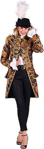 Thetru Damen Kostüm Jacke Uniform Admiral Kupfer-SchwarzKarneval Gr.2XL