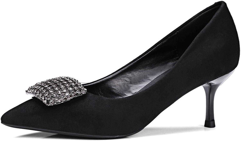 Nine Seven Genuine Leather Women's Pointed Toe Stiletto Heel Handmade Heels