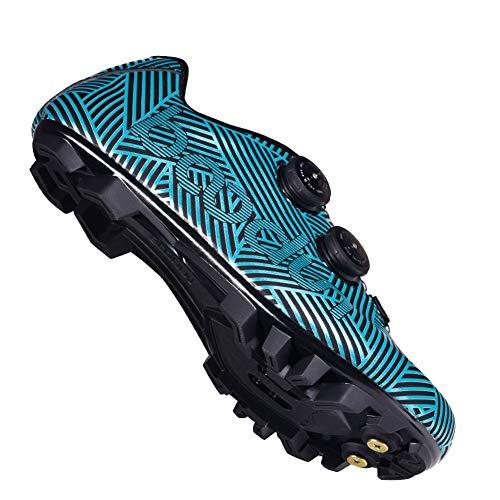 JINGJIE Zapatos De Bicicleta, Zapatos Deportivos Zapatos Zapatos De Bloqueo De Torsión Bicicleta Transpirable para Ciclismo Indoor De Trayecto Y MTB Compatible,B,45EU