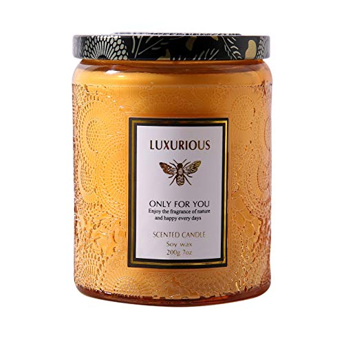 Scented Candle Jar Candle, 7 oz Large Aromatherapy Candles for Home Scented, Bath and Body Works, with 48 Hours Burn Long Lasting(American Coffee)