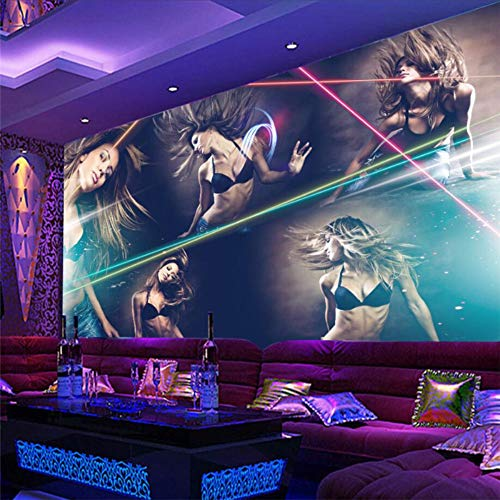 3D muur papier muurschildering aangepaste sexy schoonheid hotel bar nachtclub ktv boksen gereedschap achtergrond muurschildering behang 400 x 280 cm.