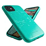 Recyclable Phone Case, iPhone 11 Case Mint Green, Eco Friendly Biodegradable iPhone 11 Case, Engraved, Vegan and Plant Based, Protective, Zero-Waste
