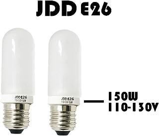 Halogen JDD 150W/250W Bulb E26 AC110-130V Base for Modeling Strobe Light in Photography Lighting SKYEVER (150W/2PCS)