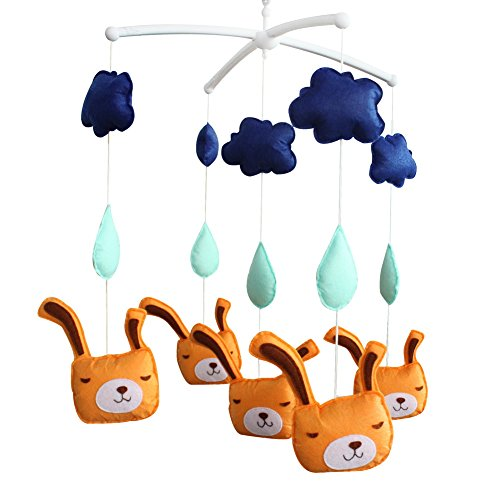 Décoration de pépinière de cadeau de jouet mobile de lit de bébé fait main pour 0-2 ans, MQ01