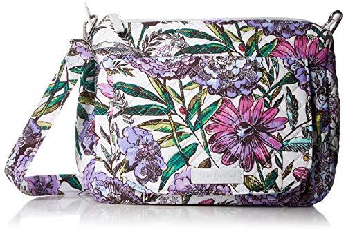 Vera Bradley Signature Cotton Carson Mini Shoulder Bag Crossbody Purse, Lavender Meadow