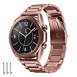 Aimtel - Pulsera compatible con Samsung Galaxy Watch 3 de 41 mm, acero inoxidable y metal, accesorio compatible para...