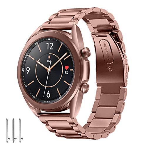 Aimtel Armband Kompatibel mit Samsung Galaxy Watch 3 41mm Armband, Edelstahl Metall Ersatzarmband Zubehör Kompatibel für Samsung Galaxy Watch 3 41mm (Bronze)