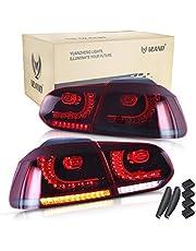 VLAND LED Achterlichten Voor 2008-2013 Golf 6 MK6 GTI GTD R TSI Achterlicht Met Sequentiële, Rood en Gerookt, RHD (Driver is aan de rechterkant)