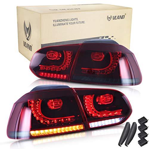 Vland RHD - Luz trasera LED para Golf 6 MK6 GTI GTD R TSI 2008-2013 con secuencial(Lado de conducción a la derecha)