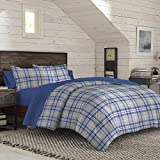IZOD Bryon Plaid Comforter Set, Twin, Gray/Purple Multi