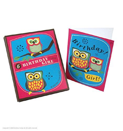 Set van 6 Mooi Boxed Kinderen Mini Verjaardagskaarten met Enveloppen (één ontwerp) - Verjaardagsmeisje!