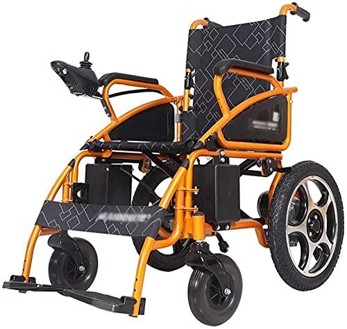 Pequeño plegable ligero eléctrico eléctrico eléctrico pequeño para sillas de ruedas auxiliar móvil, poderosa silla de ruedas de doble motor adecuada para discapacitados/ancianos