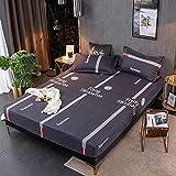 HAIBA Sábana bajera ajustable de seda satinada, transpirable, suave y cómoda (1 pieza individual/doble), 48 x 74 cm (1 unidad)
