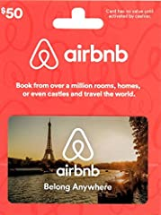 Redeemable for merchandise and services on airbnb.com only. Redeemable online only It's the perfect gift for any occasion. No returns and no refunds on gift cards. Gift card balances can not be applied to long term reservations of 28 nights or longer...