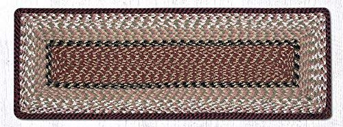 "Earth Rugs Tablerunner, 13x36"", Burgundy/Mustard"