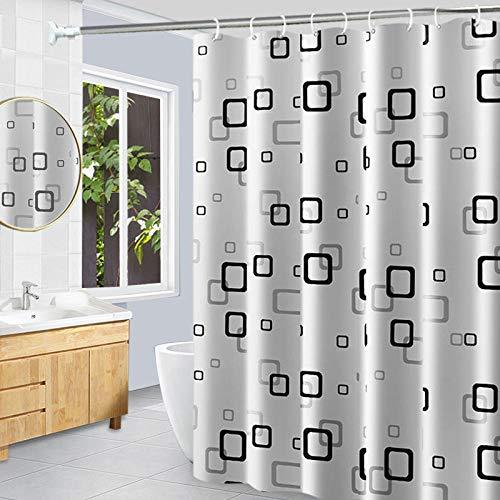 WYSTLDR Perforierte Duschvorhangsets, wasserdichte & schimmelige Gardinen, Duschvorhänge, Toilettenplanen, Duschabtrennungsvorhänge, kleines Quadrat 260W-200H