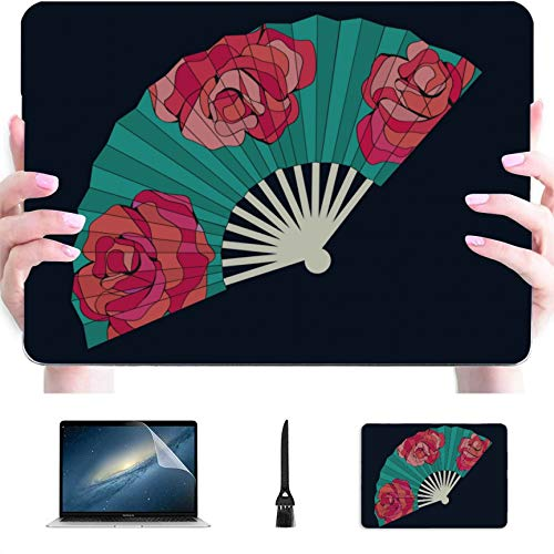 MacBook 15 Case Traditional Folding Fan Plastic Hard Shell Compatible Mac Air 13' Pro 13'/16' MacBook Pro13 Inch Case Protective Cover for MacBook 2016-2020 Version