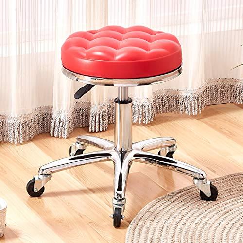 Lwjjby Kruk draait 360° verstelbare in hoogte draaibare stoel stoel stoel perfect voor schoonheidsspecialiste kapper Werkkruk Lift Draaien Ronde kruk